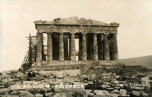 new images grenville collins collection/parthenon athens greece with scaffolding