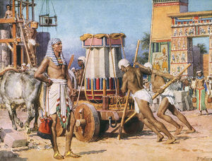 Pharaoh's Workers - Ancient Egypt - by Fortunino Matania