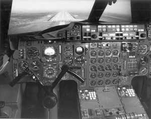 Pilots view from the Concorde simulator at BAC Filton