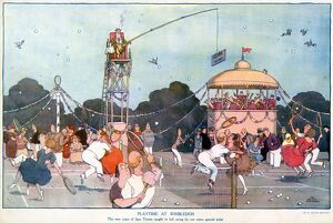 Playtime at Wimbledon. by William Heath Robinson