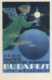 Poster for 1938 Eucharistic Congress, Budapest