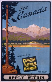 Poster advertising Canada via Canadian National Railways