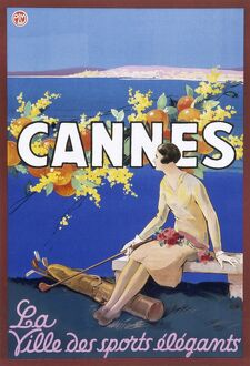 Poster advertising Cannes, France