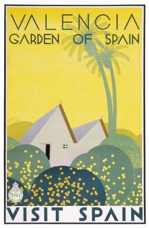 Poster for Valencia, Garden of Spain