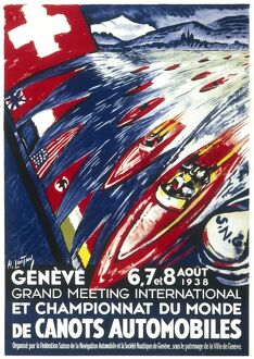 Poster for the world motor boat championships 1938