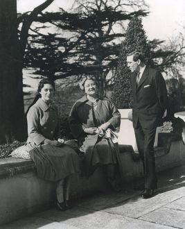 Princess Margaret and Anthony Armstrong Jones with Queen Mot