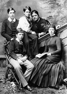Princess May of Teck with her family, c.1884.