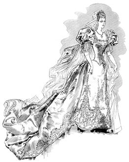 Princess Victoria Melita of Edinburgh's wedding dress