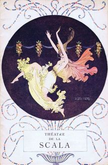 Programme cover for Theatre de la Scala, Paris, early 1920s