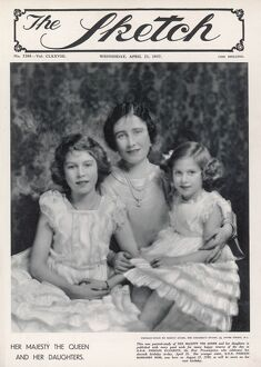 QUEEN ELIZABETH AND HER DAUGHTERS