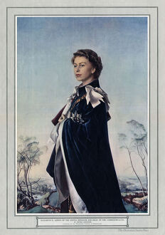 Queen Elizabeth II by Pietro Annigoni in the ILN
