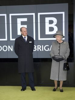 Queen Elizabeth II and Prince Philip at new LFB HQ
