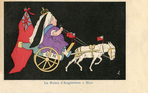 new images grenville collins collection/queen victoria nice french satire donkey cart