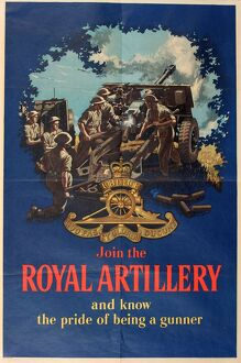 Recruitment poster, Join the Royal Artillery