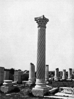 new images grenville collins collection/roman ruins volubilis morocco corinthian column