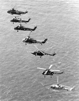 Royal Navy helicopters photographed off Portland