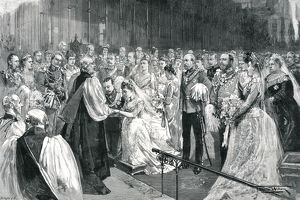 Royal Wedding 1891 - marriage ceremony in St Georges Chapel