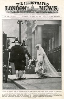 Royal Wedding 1913 - Duchess of Fife leaves for the chapel