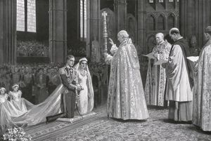 Royal Wedding 1934 - pronouncing the benediction