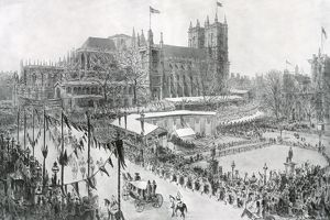 Royal Wedding 1934 - the scene in Parliament Square