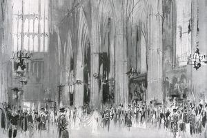 Royal Wedding 1934 - the scene in Westminster Abbey