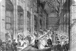 Royal wedding ceremony 1863 - nave procession