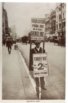 Sandwich Board Man - Oxford Street