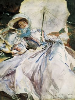 SARGENT, John Singer (1856-1925). Lady with Parasol.