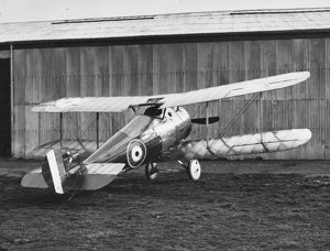 Sopwith Snipe 7F1 biplane on an airfield, WW1