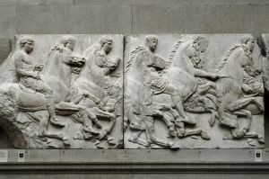 South Frieze of the Parthenon. The Acropolis, Athens, Greece