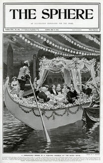 Sphere cover - floating gondola at the Savoy by Matania