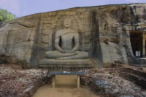 SRI LANKA. Polonnaruwa. Gal Vihara or Rock Temple