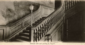 new images grenville collins collection/st bartholomews hospital london staircase