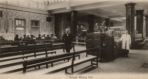 new images grenville collins collection/st bartholomews hospital london surgery waiting