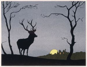 STAG SILHOUETTED