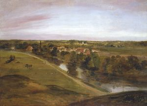 Stratford St Mary from the Coombs, by John Constable