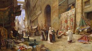 A Street Scene in Cairo, by Charles Robertson