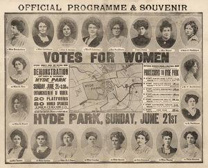 Suffragette Rally Women's Sunday Programme 1908
