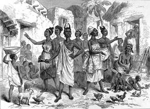 Summoning bearers to Cape Coast Castle, 1874.