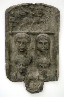 Thracian culture. Marble funerary relief. Family