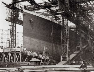 The Titanic in Belfast Dock