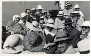 new images grenville collins collection/tourists landing katakolo visit olympia greece