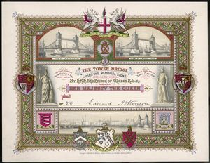 TOWER BRIDGE INVITATION
