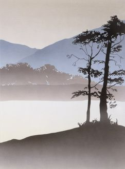 Triptych Landscape - Mountain Lake - Right