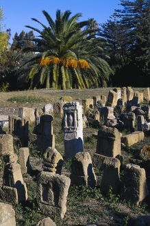TUNISIA. TUNIS. Carthage. Punic pillars, funerary