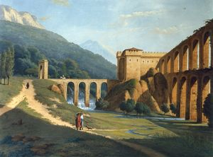 A View of a Fortified Aqueduct, by Joseph August Knip