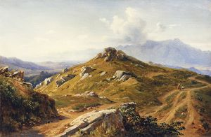 View of Mountains near Naples, by Andre Giroux