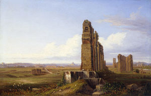 View of the Roman Campagna, by Franz Knebel