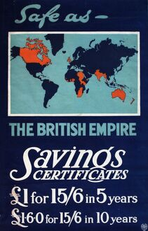 Wartime poster advertising Savings Certificates