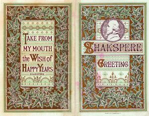 William Shakespeare on a greetings card